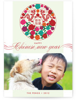 Dragon and Flowers Lunar New Year Cards