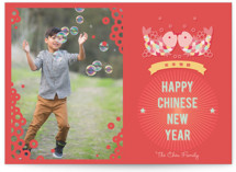 Lucky Double Fish Lunar New Year Cards