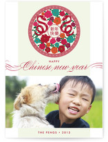 Snake and Flowers Lunar New Year Cards
