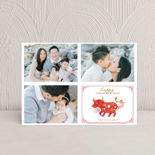 Botanical Papercut Pig Chinese New Years Postcards