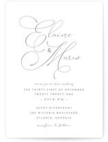 quiche Letterpress Wedding Invitations