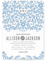 Paper Flowers Letterpress Wedding Invitations