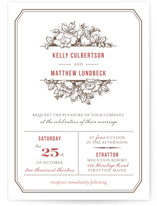 Harvest Floral Letterpress Wedding Invitations