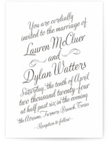 Just My Type Letterpress Wedding Invitations
