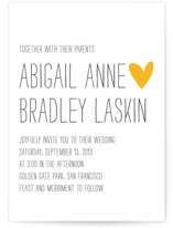 Passing Notes Letterpress Wedding Invitations