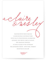 Love Letter Letterpress Wedding Invitations