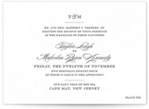 Charming Go Lightly Letterpress Wedding Invitations