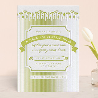 In the Meadow Letterpress Wedding Invitations