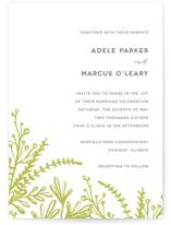 Garden Letterpress Wedding Invitations