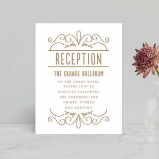 Luxe Impression Letterpress Reception Cards
