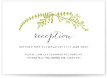 Garden Letterpress Reception Cards