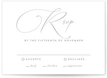 quiche Letterpress RSVP Cards
