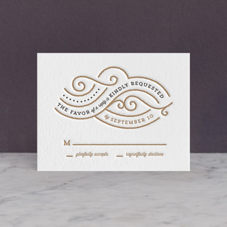 Linea Letterpress RSVP Cards