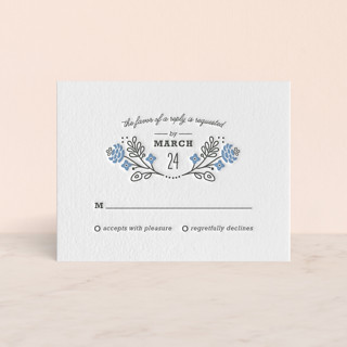 Prosperity Letterpress RSVP Cards