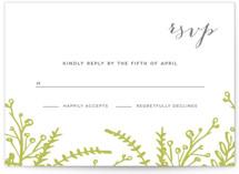 Garden Letterpress RSVP Cards