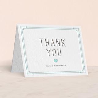 Framed Type Letterpress Thank You Cards