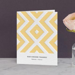 Modern Ikat Letterpress Thank You Cards