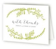 Garden Letterpress Thank You Cards