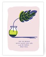 Tropical Leaf Love Note by Ariel Rutland