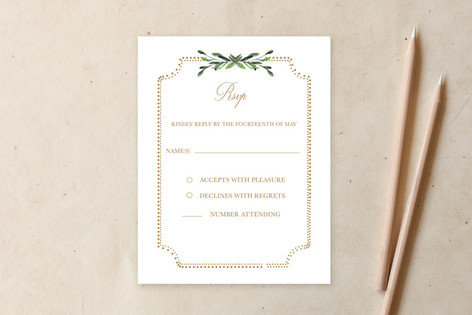 Floral & Formal RSVP  Non-Custom A2 Cards