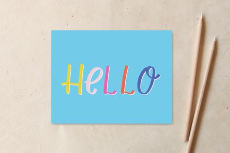 Bold Bright Hello Non-Custom A2 Cards