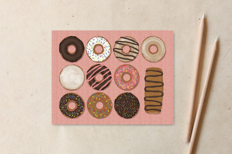Delicious Donuts Non-Custom A2 Cards
