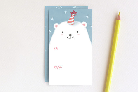 Polar Bear with Party Hat Mini Cards