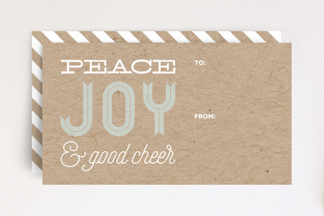 Peace Joy & Good Cheer Mini Cards