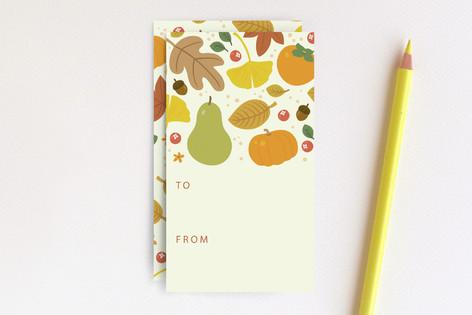 Autumn Leaves Tags Mini Cards