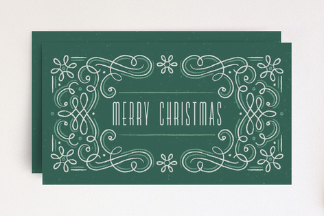 Snowflake Flourish Frame Mini Cards