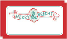 Merry Bright Lettering