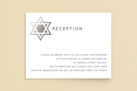Shining Star Foil-Pressed Mitzvah Reception Cards