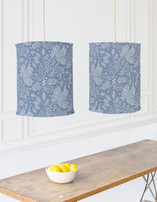 Frosted Winter Fabric Chandelier Lampshades