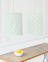 Watercolor Branches Self Launch Chandelier Lampshades