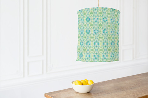 Merging Watercolors Self Launch Chandelier Lampshades