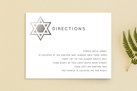 Shining Star Foil-Pressed Mitzvah Directions Cards