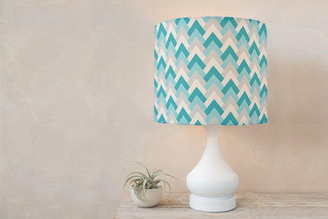 Deco Chevron Self Launch Drum Lampshades