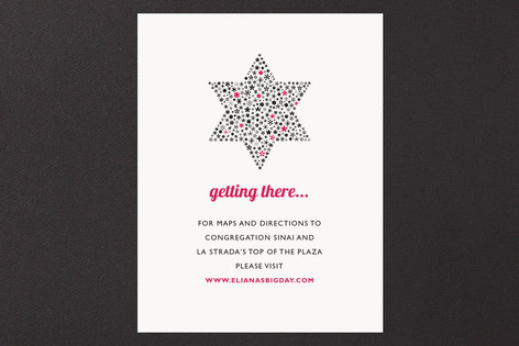 Mitzvah Star Mitzvah Direction Cards