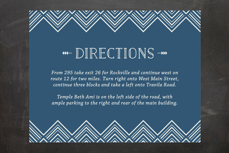 Sharp Mitzvah Direction Cards