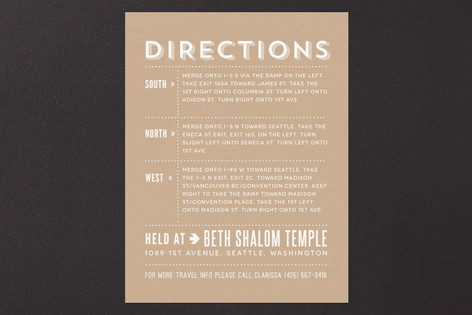 Simply Krafted Mitzvah Direction Cards