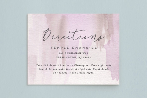 Celebratory Mitzvah Direction Cards