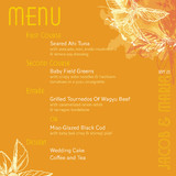 Citrus Zest Menu