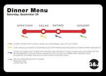 Dinner Map Menu