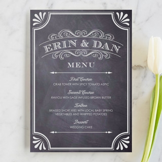 A Chalkboard Marriage Menu