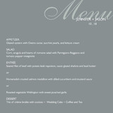 Modern &amp; Chic Menu