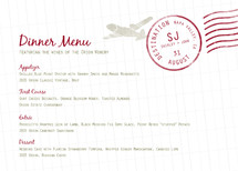 A Faraway Destination Menu
