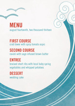 BLOCK PRINT WAVES Menu