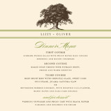 Oak Tree Menu