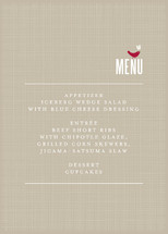 SWEET LINEN Menu