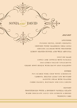French Vintage Menu